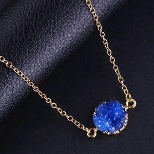 Sparkly Druzy Gemstone Necklace